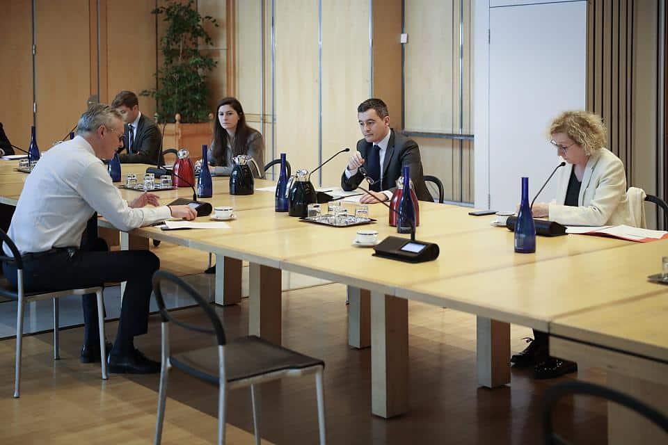 réunion avec le ministère du travail