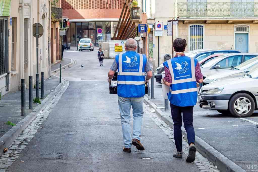 Archives Perpignan France 07 04 2020 Distribution Colis Alimentaire Pauvrete Precarite Secours Populaire Conseil Departemental Pyrenees Orientales © Arnaud L