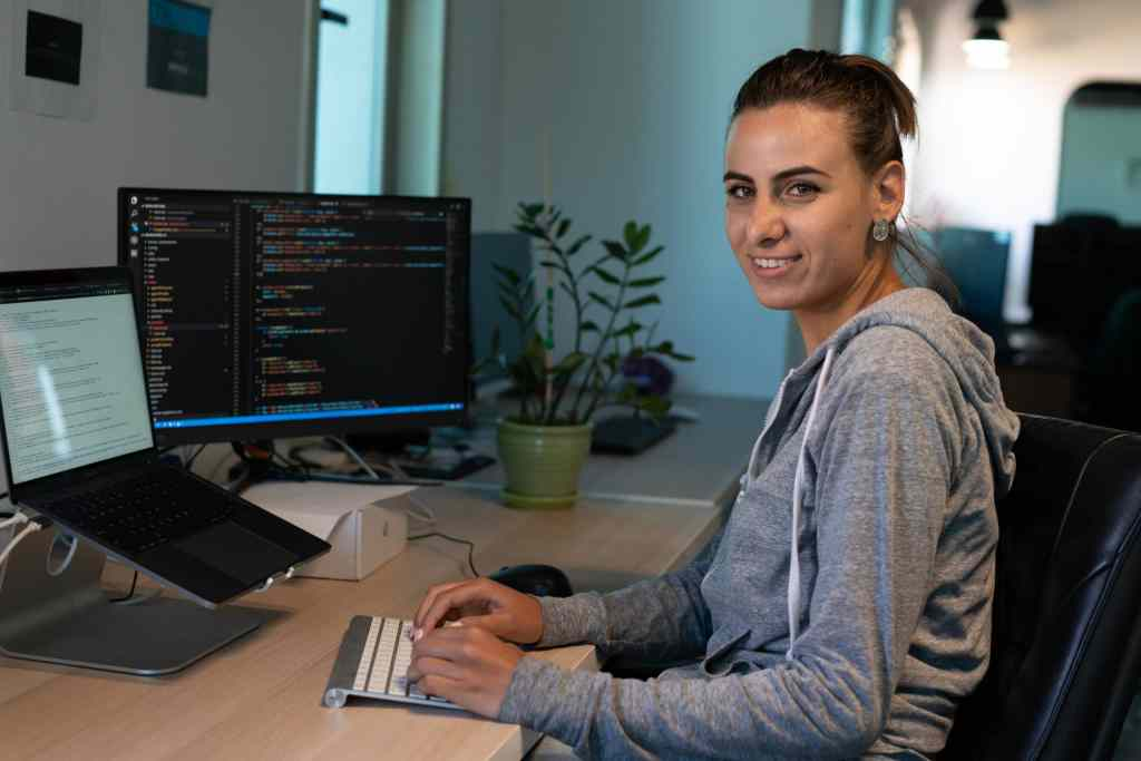 Woman Working With Monitors And Smiling Scopio E54e6e1a 4a48 4847 8537 89addf32f623 Scaled 1