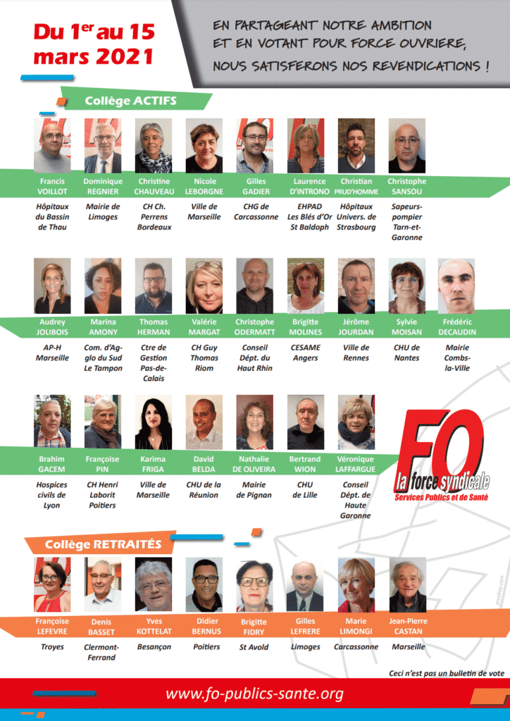 liste candidats fo