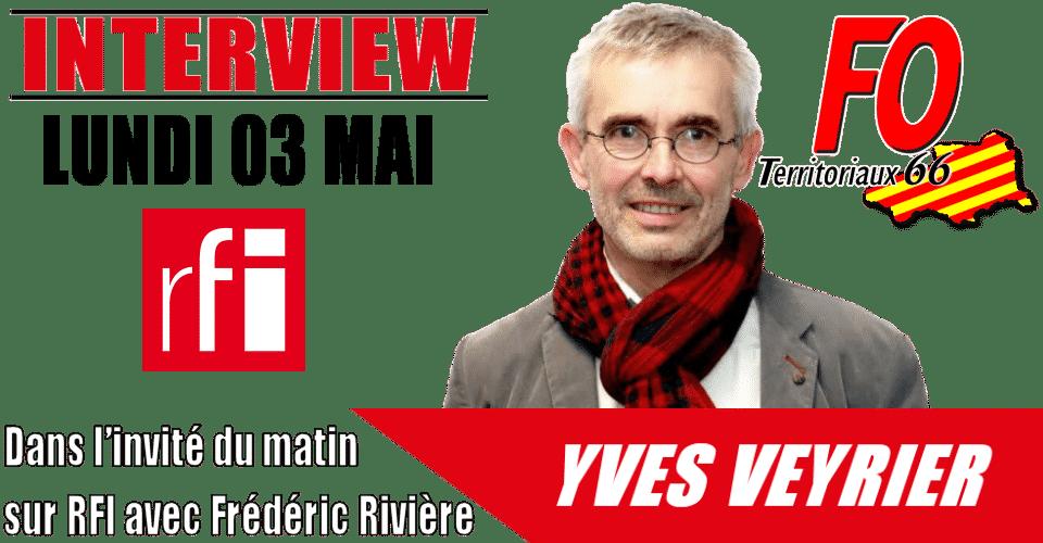 Yves Veyrier sur RFI 03/05/21