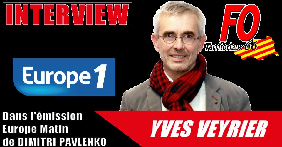 Yves Veyrier invité de l'émission Europe Matin 30/07/2021